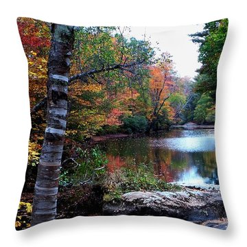 Little Androscoggin River Throw Pillow