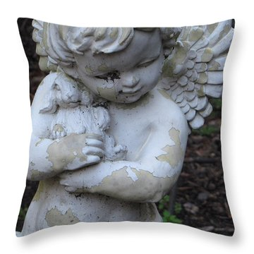 Throw Pillow featuring the photograph Little Angel by Beth Vincent