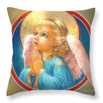 Little Angel Throw Pillow by Zorina Baldescu