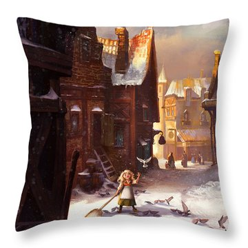 Little Anna Throw Pillow
