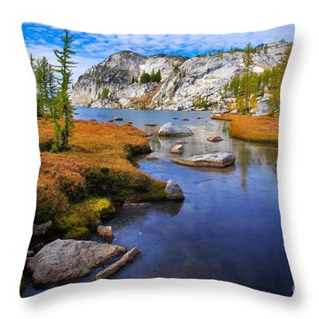 Little Annapurna Throw Pillow by Inge Johnsson