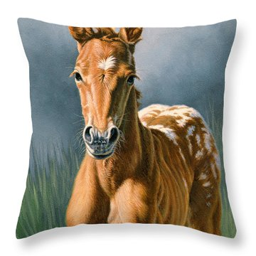 Foal Throw Pillows