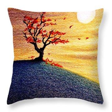 Little Autumn Tree Throw Pillow