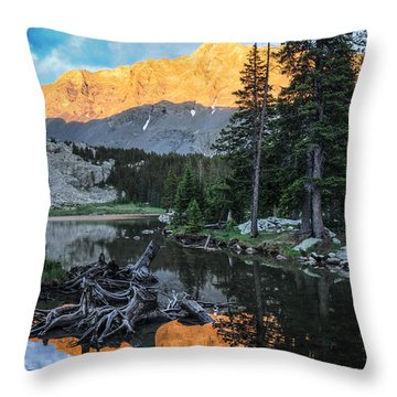 Little Bear Peak And Lake Como Throw Pillow
