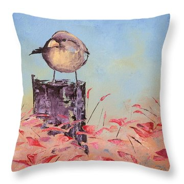 Little Bird #10 Throw Pillow