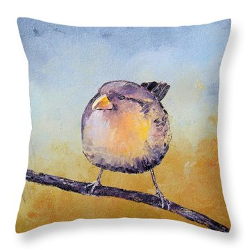 Little Bird #7 Throw Pillow