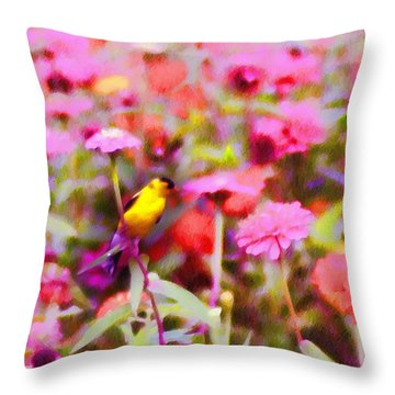 Little Birdie In The Spring Throw Pillow by Bill Cannon