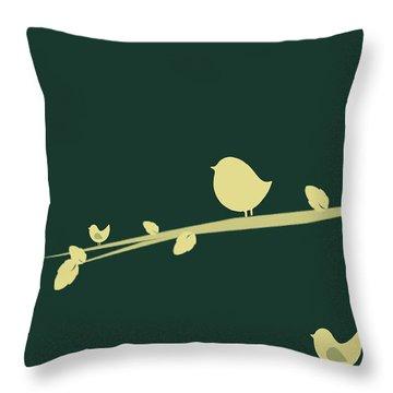 Little Birds Throw Pillow by Mark Ashkenazi