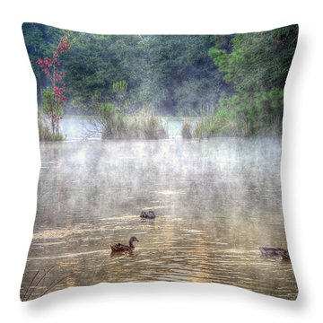 Throw Pillow featuring the photograph Little Bit Of Fall by Charlotte Schafer