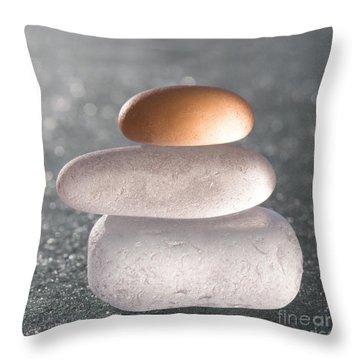 Little Bit Of Gold Throw Pillow by Barbara McMahon