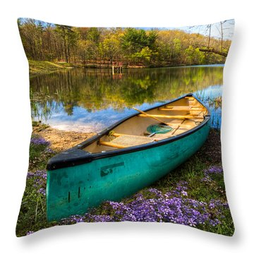 Throw Pillow featuring the photograph Little Bit Of Heaven by Debra and Dave Vanderlaan