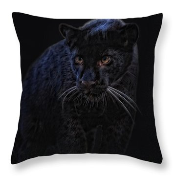 little black Jag Throw Pillow by Joachim G Pinkawa