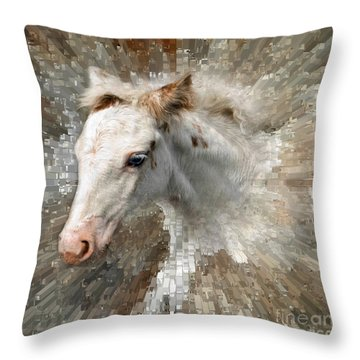Little Blue Eye Throw Pillow by Liz  Alderdice