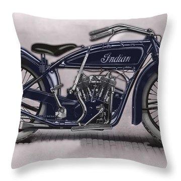 Little Blue Indian 2 Throw Pillow