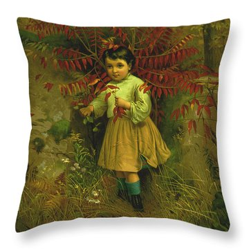 Little Bo Peep 1867 Throw Pillow by JG Brown