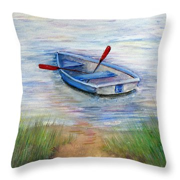 Little Boat Throw Pillow