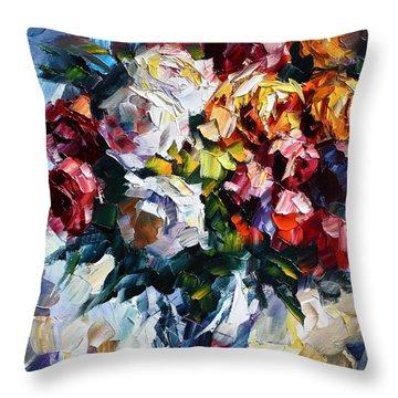 Little Bouquet Throw Pillow by Leonid Afremov