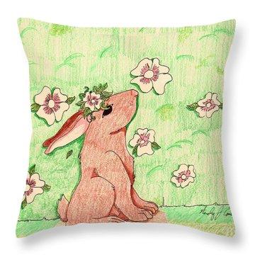 Little Bunny Big Dreams Throw Pillow