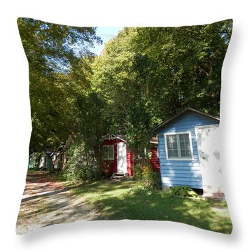 Little Cabins Throw Pillow