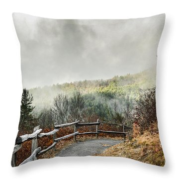 Throw Pillow featuring the photograph Little Cataloochee Overlook In The Great Smoky Mountains by Debbie Green