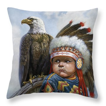 Little Chief Throw Pillow