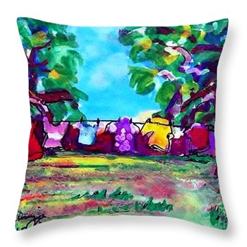 Little Clothing Line Throw Pillow
