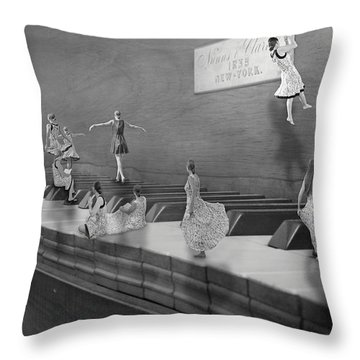 Little Composers II Throw Pillow by Betsy Knapp