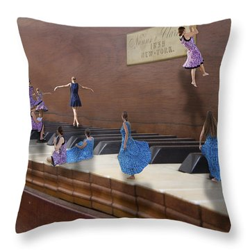 Little Composers IIi Throw Pillow by Betsy Knapp
