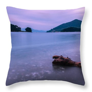 Little Corner By The Sea Throw Pillow