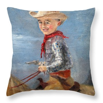 Little Cowboy - 1957 Throw Pillow