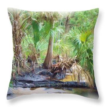 Little Creek Low Tide Throw Pillow