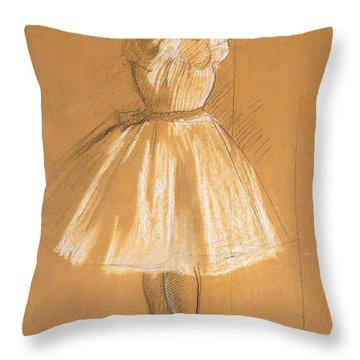 Little Dancer Throw Pillow by Edgar Degas