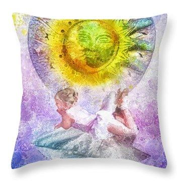 Little Dancer Throw Pillow by Mo T