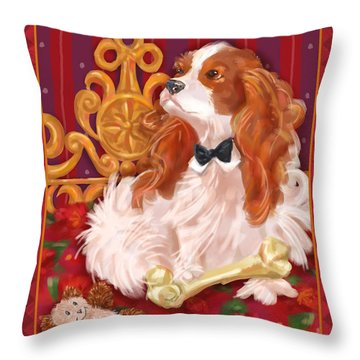 Little Dogs - Cavalier King Charles Spaniel Throw Pillow