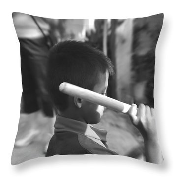 Throw Pillow featuring the photograph Little Drummer by Michelle Meenawong