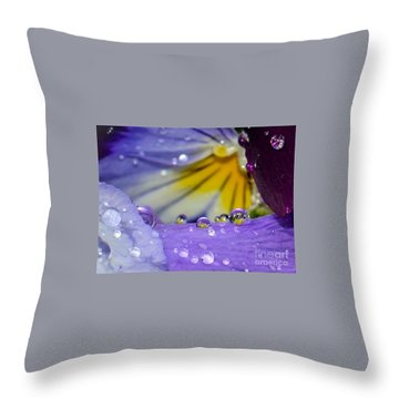 Little Faces Throw Pillow