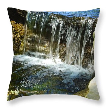 Little Falls 3 Throw Pillow by Charlie Brock
