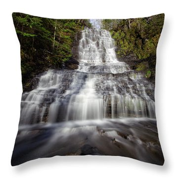 Little Falls Throw Pillow by Jakub Sisak