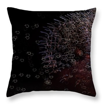 Throw Pillow featuring the photograph Little Fish In The Evening Ocean by Linda Mishler