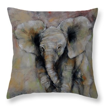 Little Giant Throw Pillow by Jean Cormier