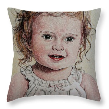 Little Girl Throw Pillow by Andrew Read