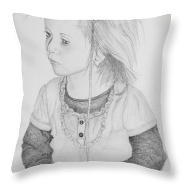 Little Girl With Balloon Throw Pillow by John Stuart Webbstock