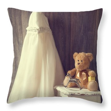 Little Girls Bedroom Throw Pillow by Amanda Elwell