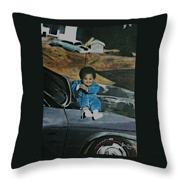 Captured Childhood Memories  Throw Pillow