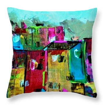 Little Haiti Throw Pillow by Kelly Turner