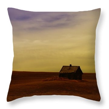 Little House On The Prairie  Throw Pillow by Jeff Swan