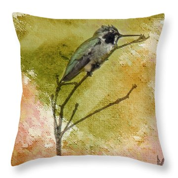 Little Hummingbird Throw Pillow