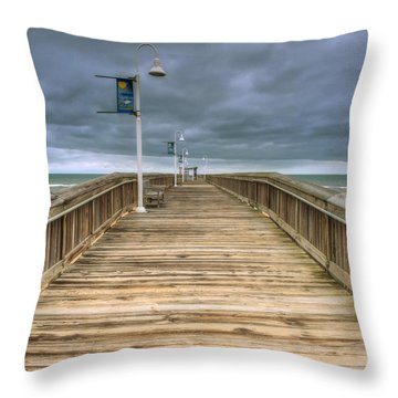 Little Island Pier Throw Pillow