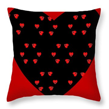 Throw Pillow featuring the digital art Little Kaleidoscope Hearts by Pete Trenholm