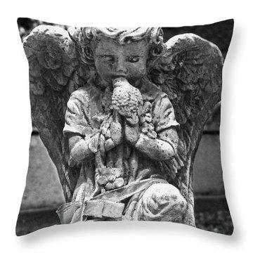 Little Kisses Bkwt Throw Pillow by Peter Piatt